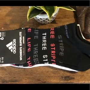 Adidas 6PK Women  Superlite Climalite Socks Sz5-10